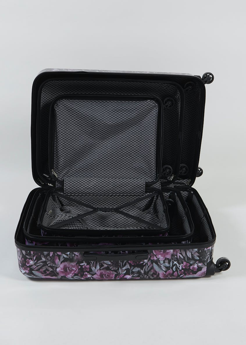 Constellation Justine ABS Hard Shell Floral Suitcase