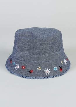 Girls Ladybird Sun Hat (6mths-4yrs)