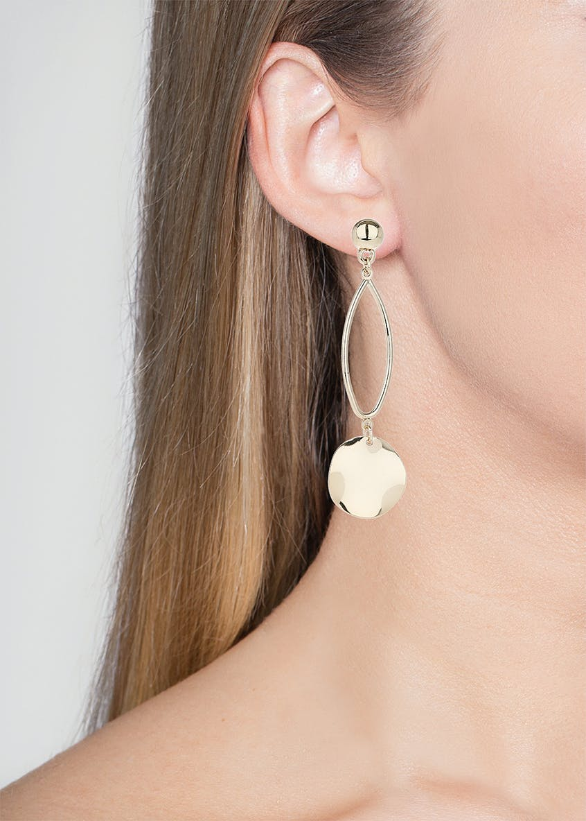 Disc Drop Earring