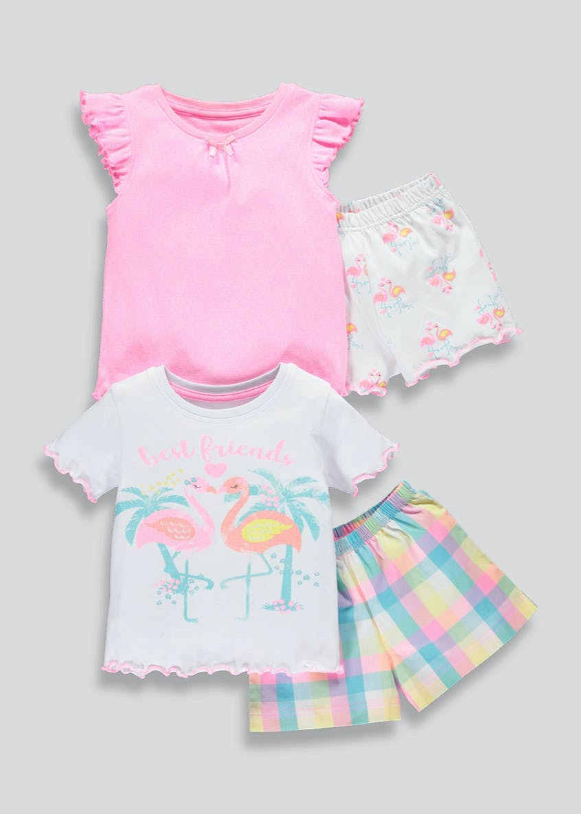 Girls 2 Pack Shortie Pyjamas (9mths-5yrs)