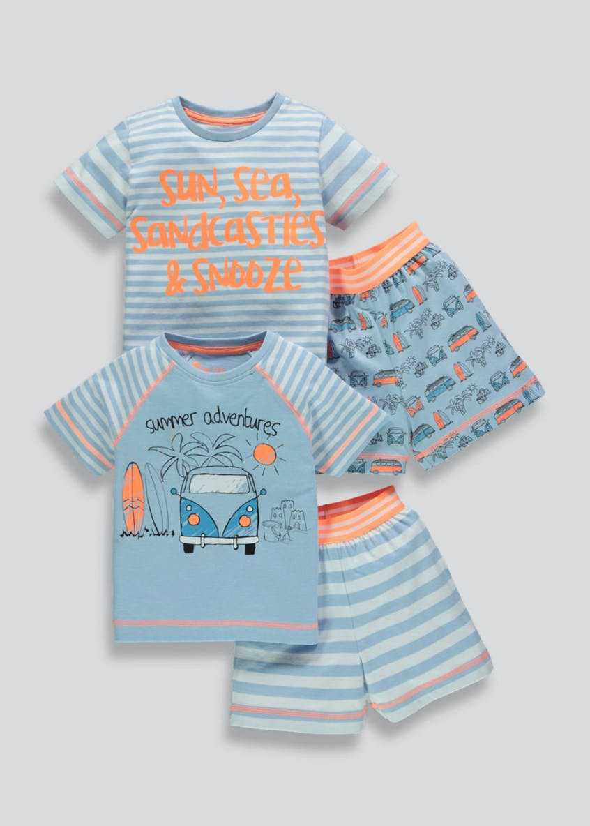Boys 2 Pack Short Pyjamas (9mths-5yrs)