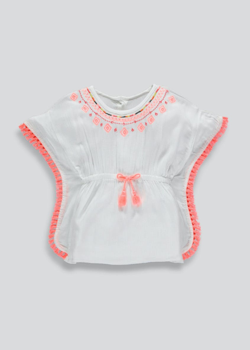 Girls Embroidered Tassel Kaftan (3mths-6yrs)
