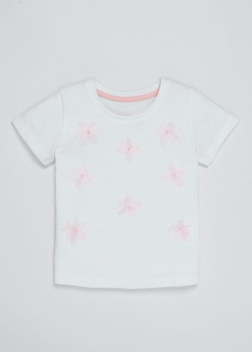 Girls 3D Floral T-Shirt (3mths-6yrs)