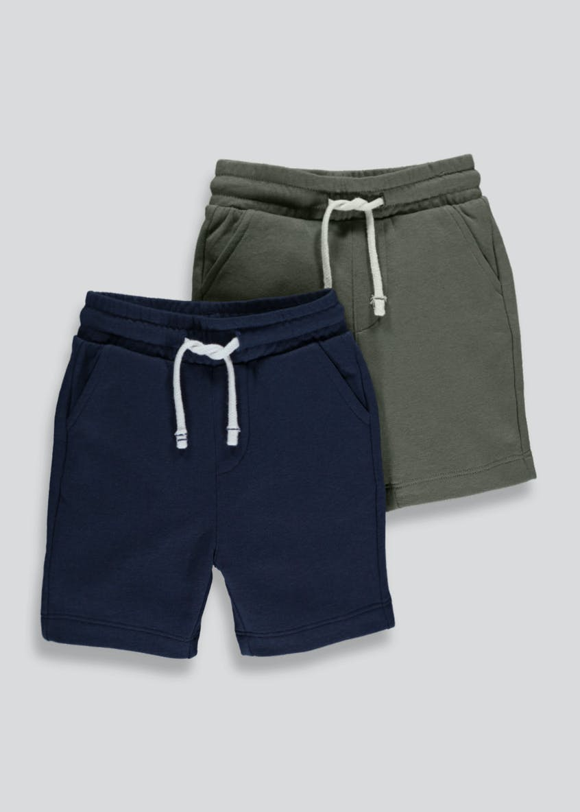 Boys 2 Pack Jersey Shorts (3mths-6yrs)
