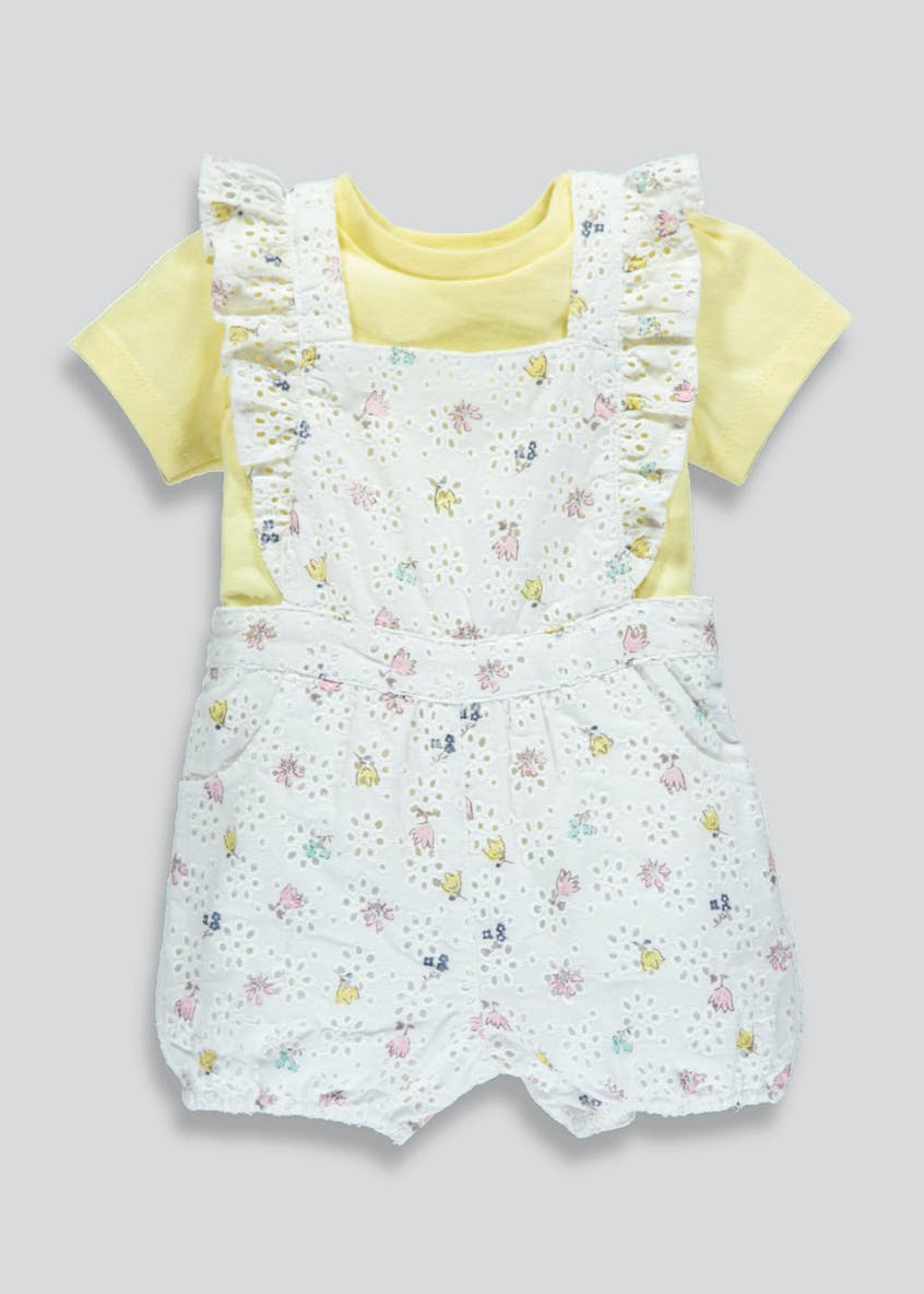 Girls Playsuit & T-Shirt (Newborn-18mths)