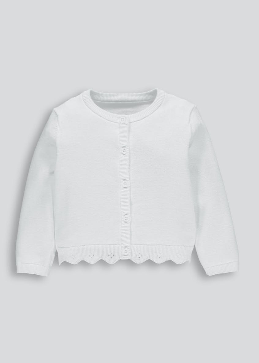 Girls Scalloped Cardigan (3mths-6yrs)