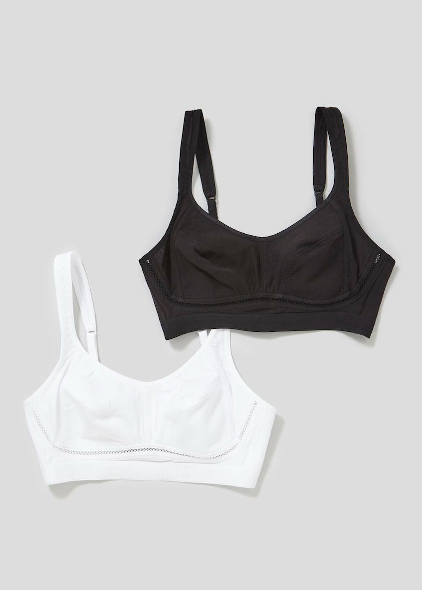 2 Pack Medium Impact Non-Padded Sports Bras