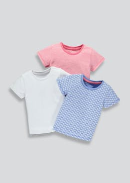Girls 3 Pack T-Shirts (3mths-6yrs)