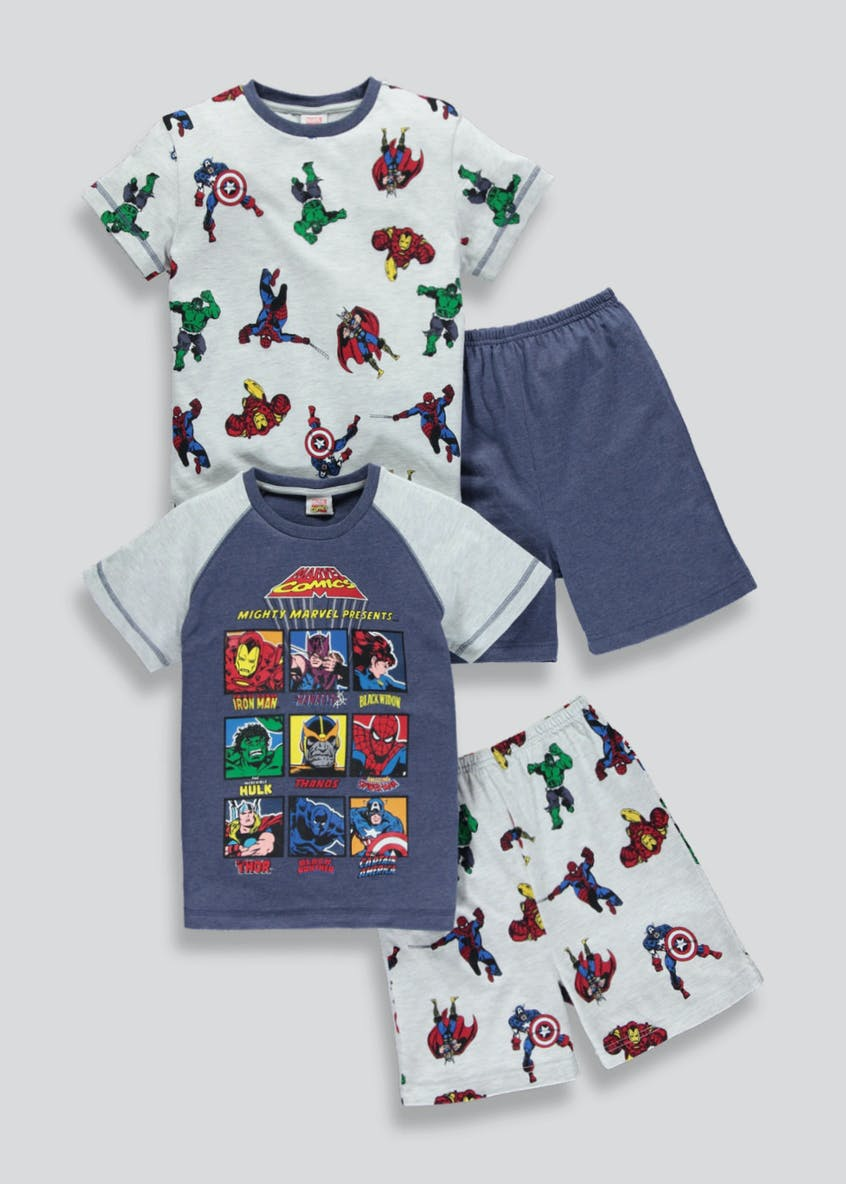 Kids 2 Pack Avengers Short Pyjamas (2-9yrs)