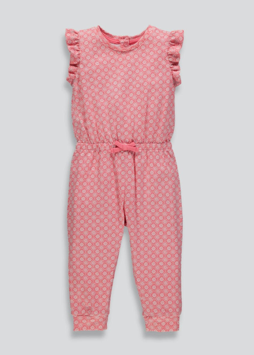 Girls Tile Print Jumpsuit (3mths-6yrs)