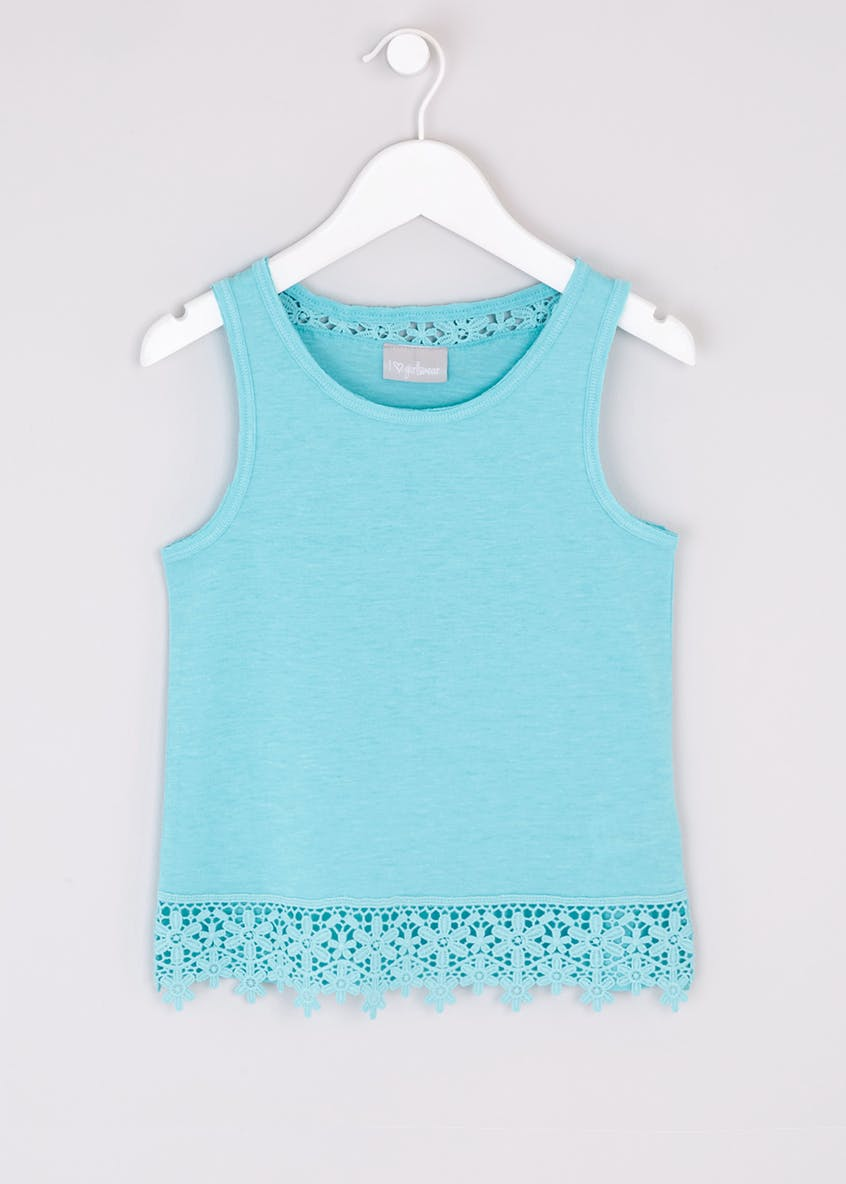 Girls Lace Trim Vest Top (4-13yrs)