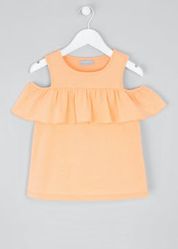 Girls Frill Cold Shoulder Top (4-13yrs)