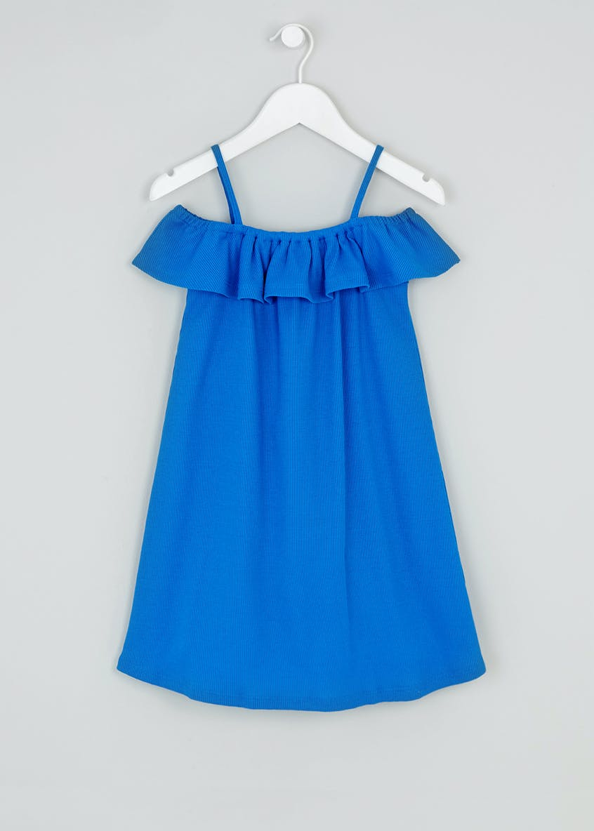 Girls Ribbed Bardot Dress (4-13yrs)