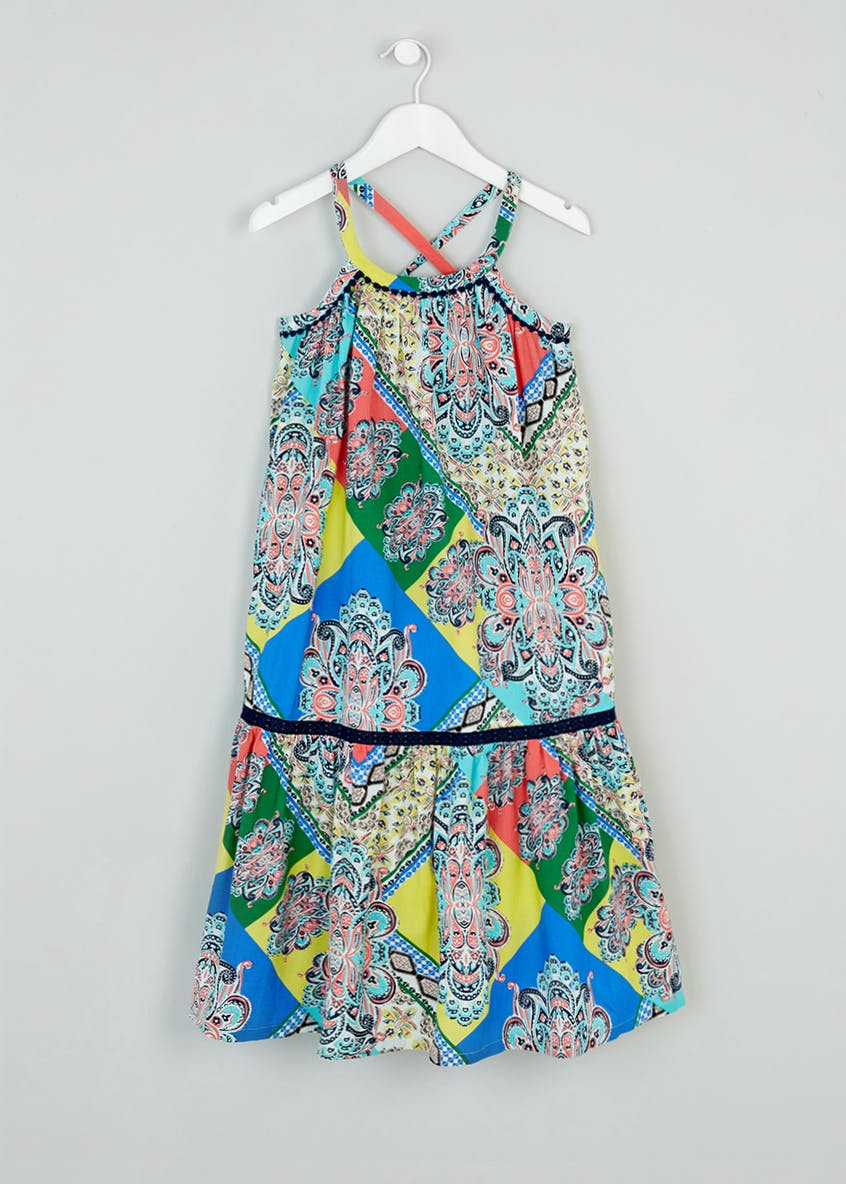 Girls Printed Maxi Dress (4-13yrs)