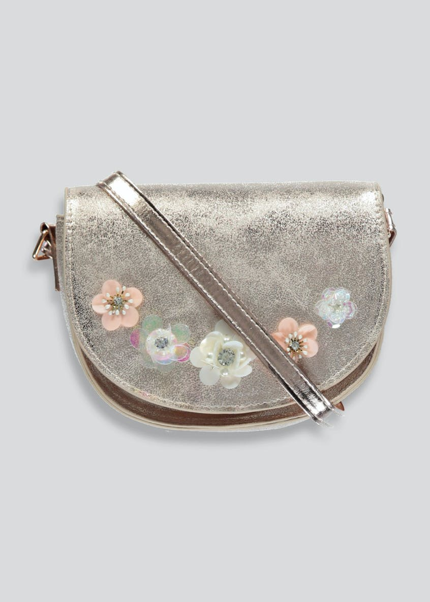 Girls 3D Flower Cross-Body Bag (One Size)