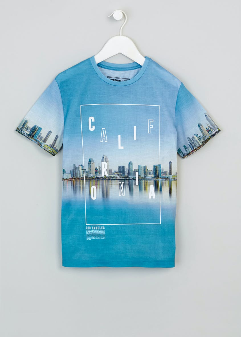 Boys California Slogan T-Shirt (9-16yrs)