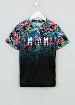 Boys Miami Tropical Slogan T-Shirt (9-16yrs)
