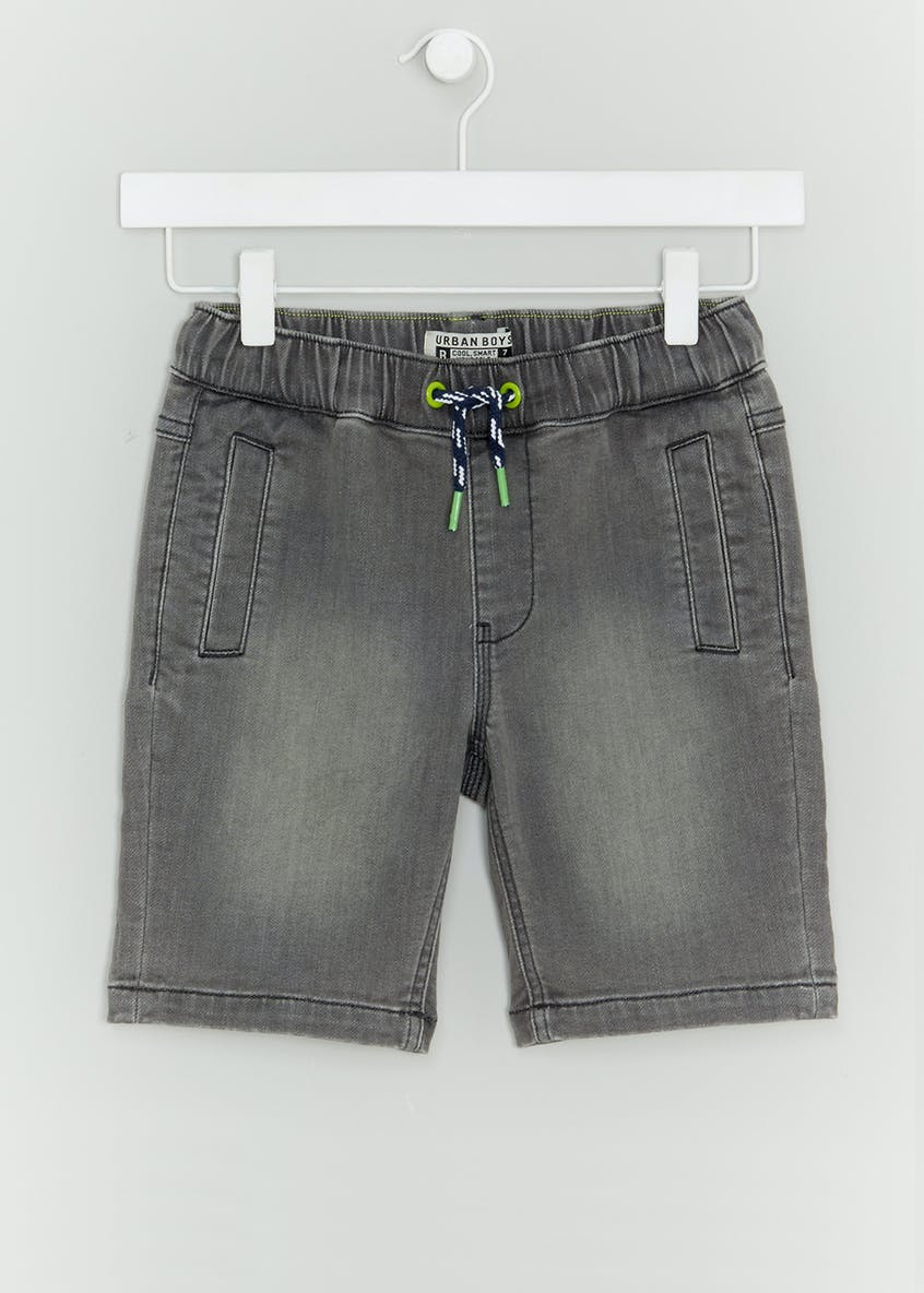 Boys Jersey Denim Shorts (4-16yrs)