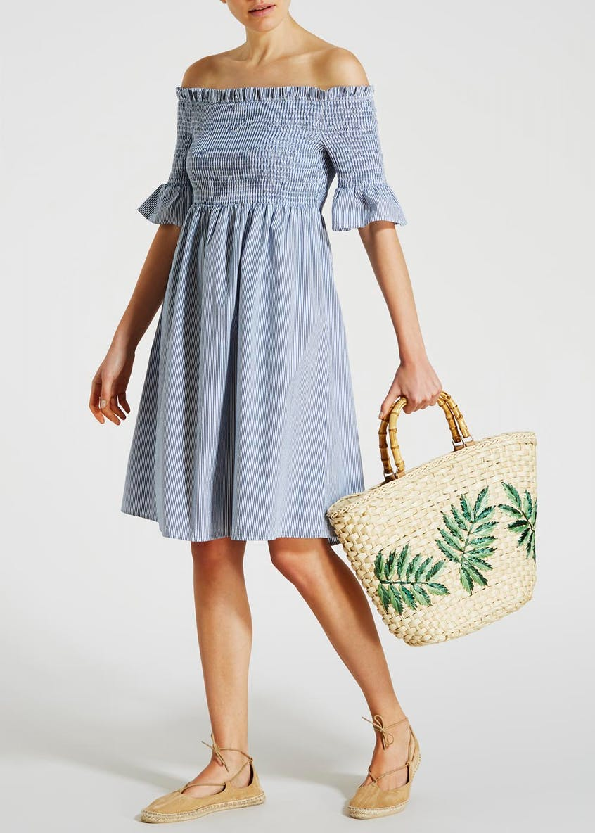 Leaf Straw Woven Basket Tote Bag