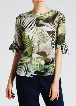Palm Print Tie Sleeve Box Top