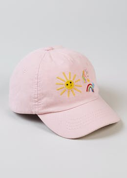 Girls Unicorn & Rainbow Cap (6mths-4yrs)