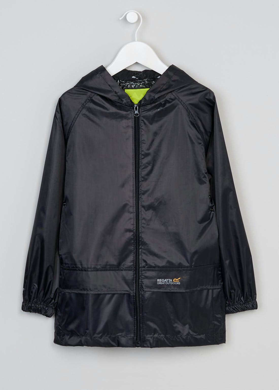 Kids Black Regatta Stormbreak Waterproof Jacket (5-12yrs)