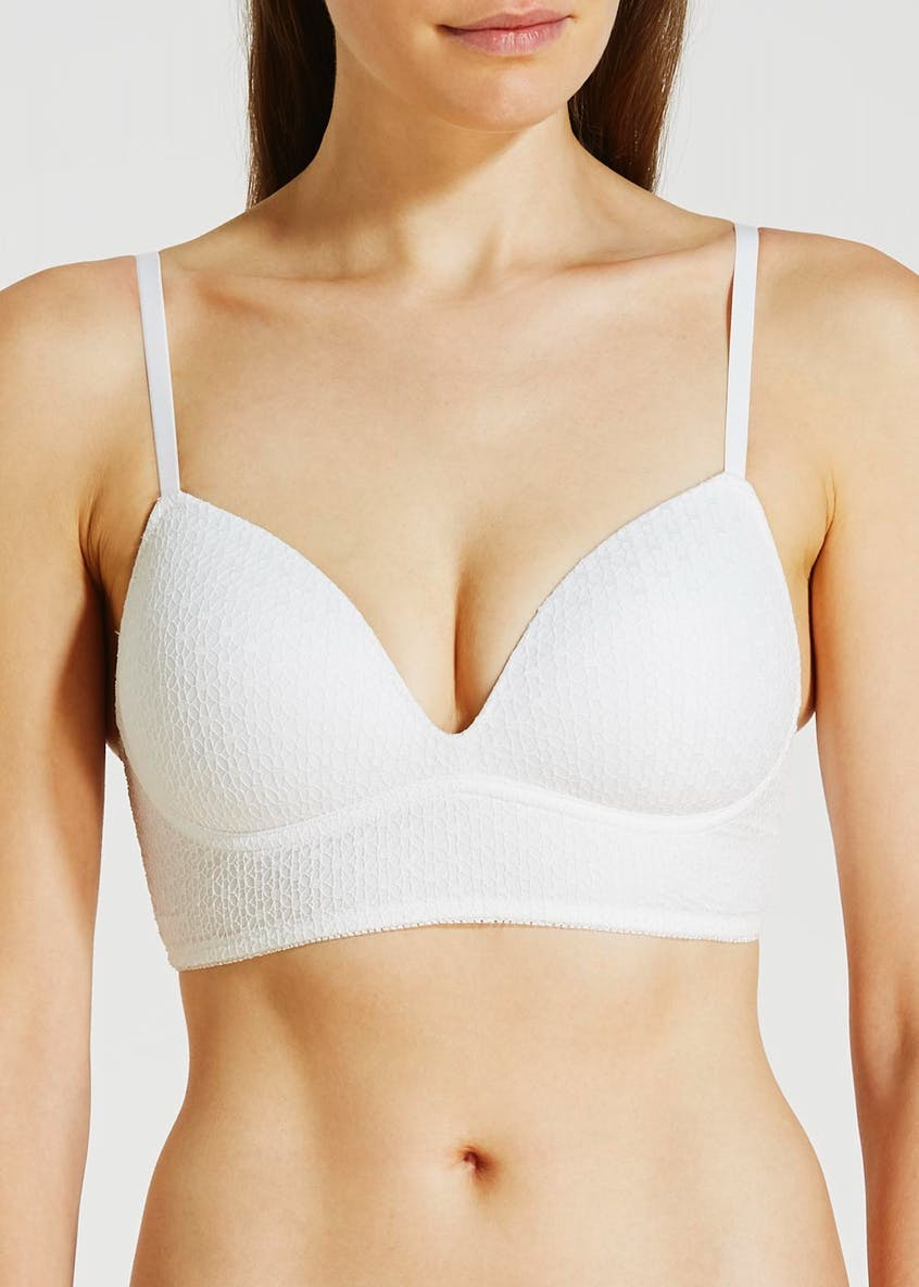 Non-Wired Textured Longline Lounge Bra