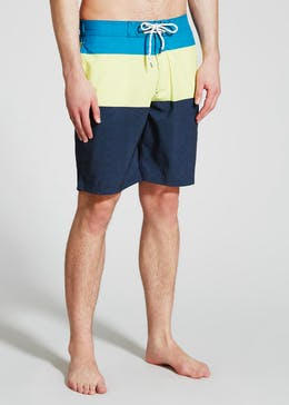 Long Length Colour Block Swim Shorts