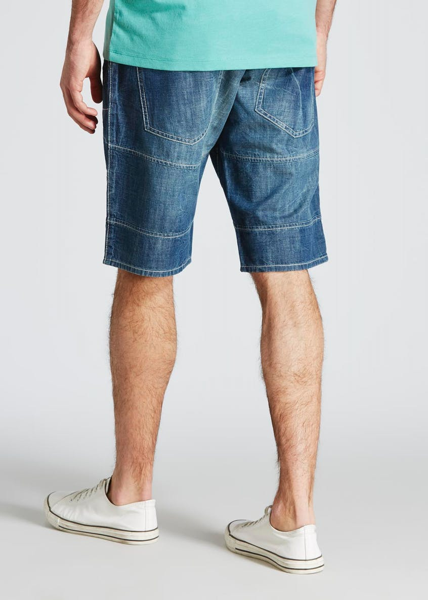 Denim Utility Shorts