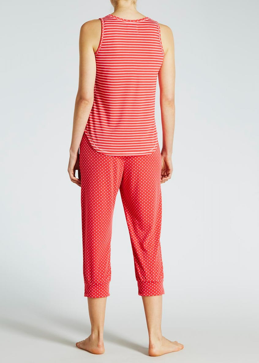 Spot & Stripe Cropped Pyjama Set