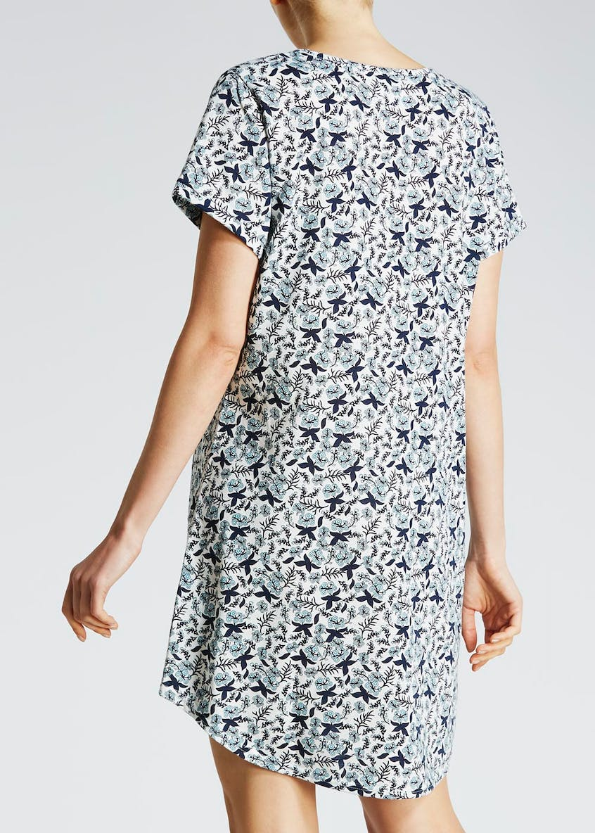 Leaf Print Pocket Nightie