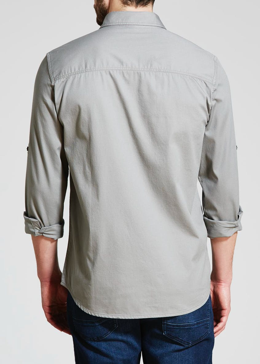 Big & Tall Roll Sleeve Utility Shirt