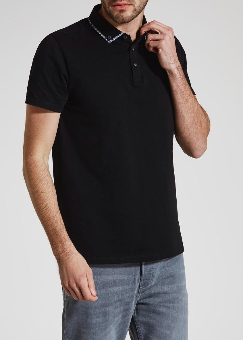 Button Double Collar Polo Shirt