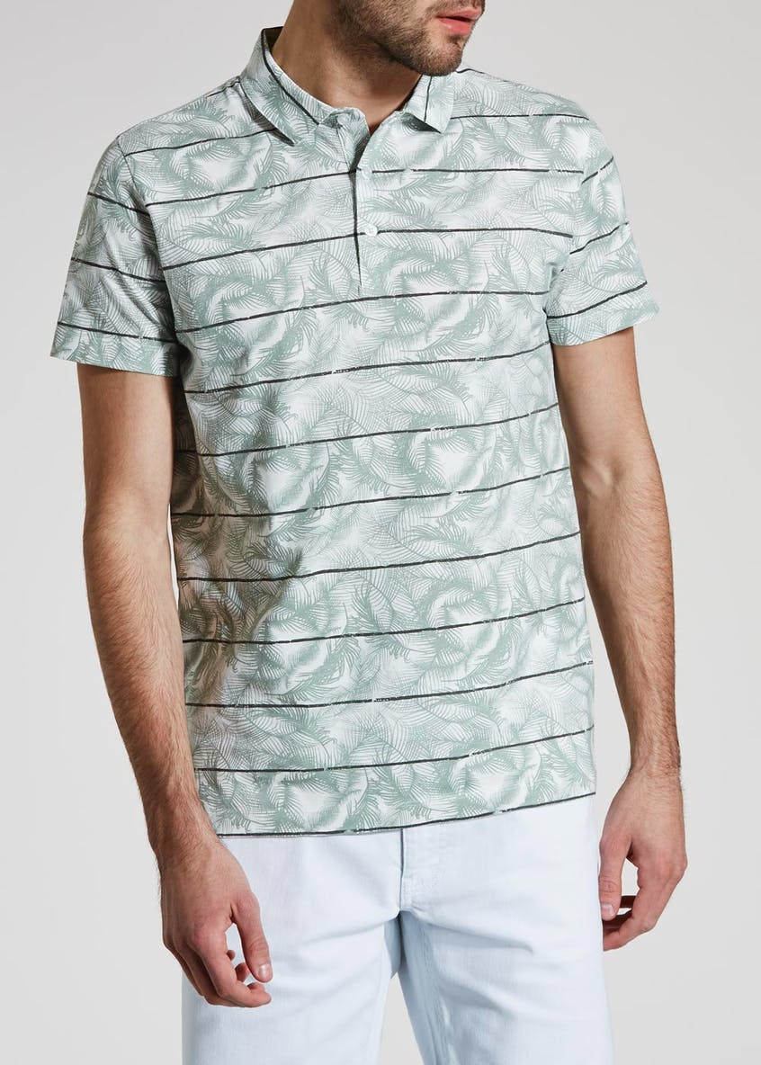 Short Sleeve Floral Polo Shirt