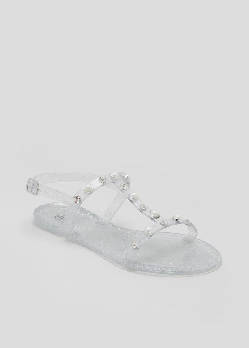 Girls Pearl Detail Jelly Sandals (Younger 10-Older 5)
