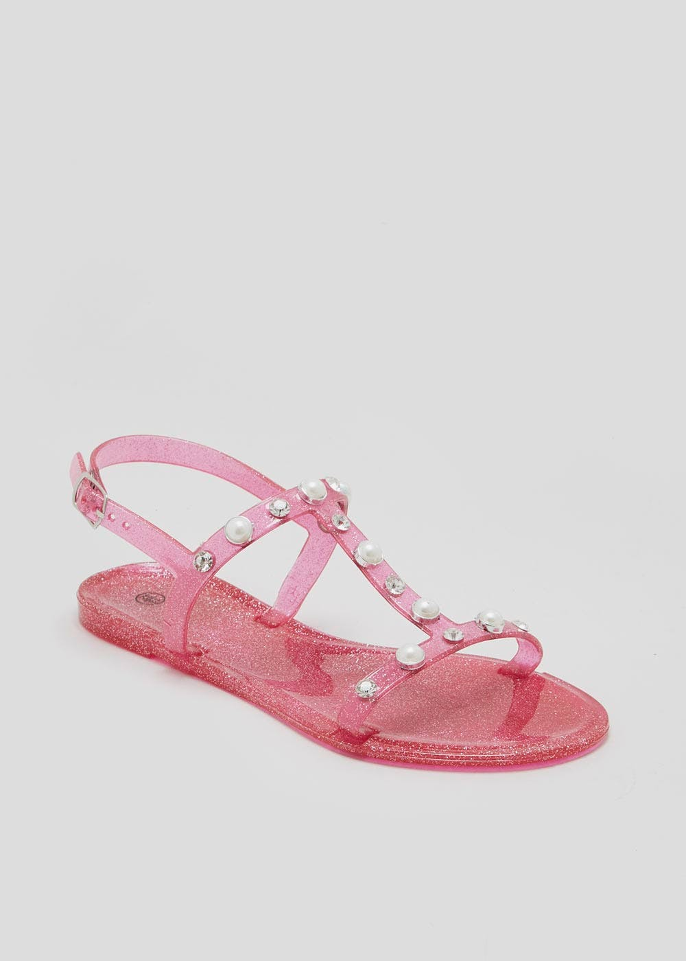 b0fb43b0eb2 Girls Pearl Detail Jelly Sandals (Younger 10-Older 5) – Pink – Matalan
