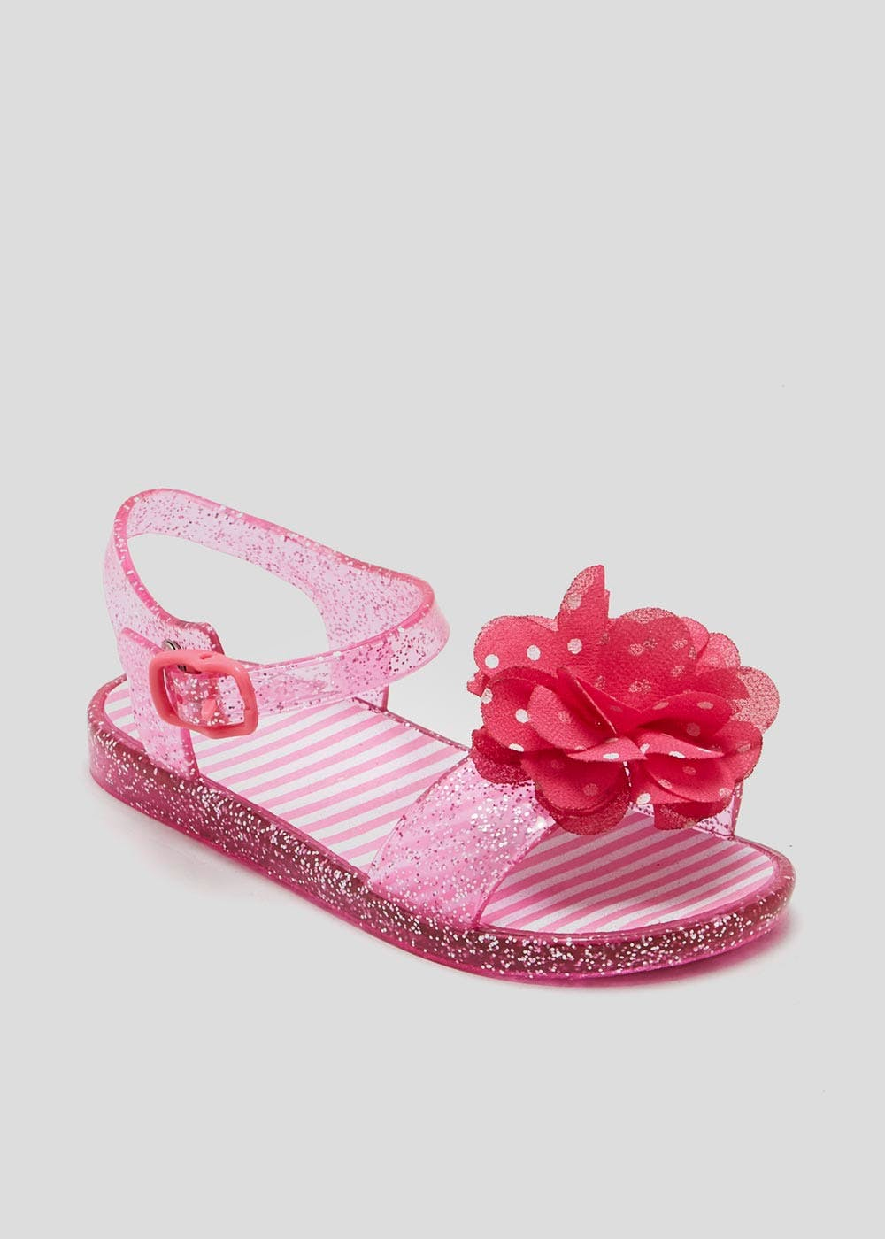ddcc532ac5ce Girls Flower Jelly Sandals (Younger 4-12) – Pink – Matalan