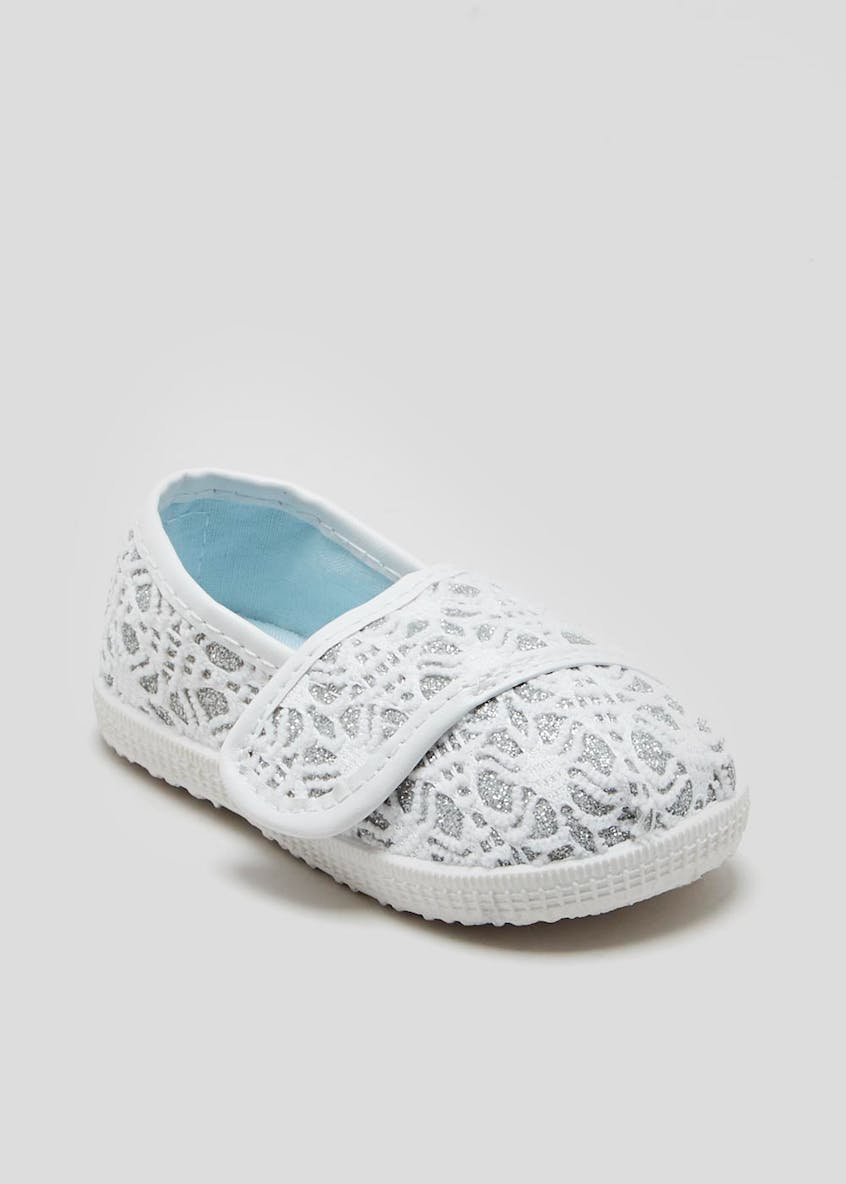 Girls Soft Sole Espadrille Pre-Walker Baby Shoes (Newborn-18mths)
