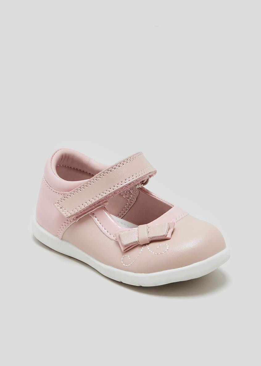 Girls 1st Walkers Bow Ballet Shoes (Younger 3-7)