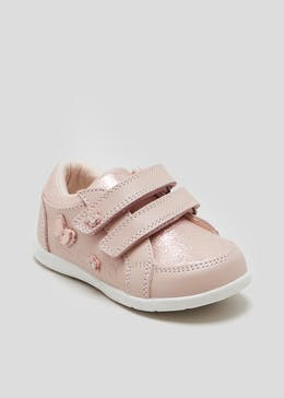 Girls 1st Walkers Flower Trainers (Younger 3-7)