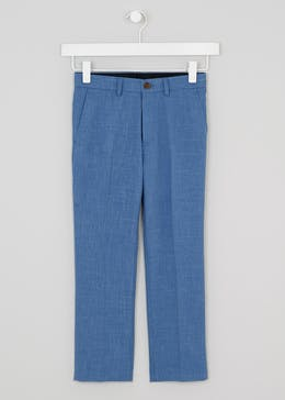 Boys Chambray Suit Trousers (4-13yrs)