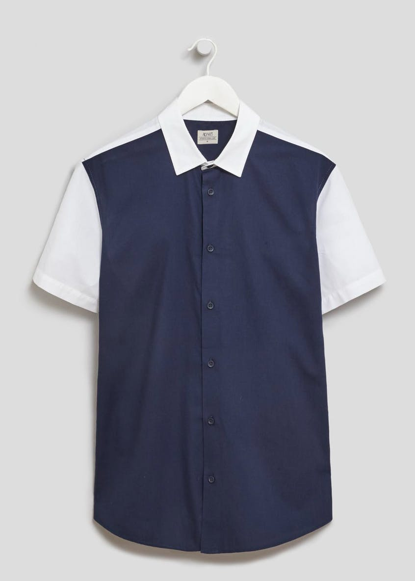 Block Panel Short Sleeve Shirt