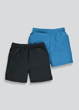 Boys Souluxe 2 Pack Sports Shorts (4-13yrs)