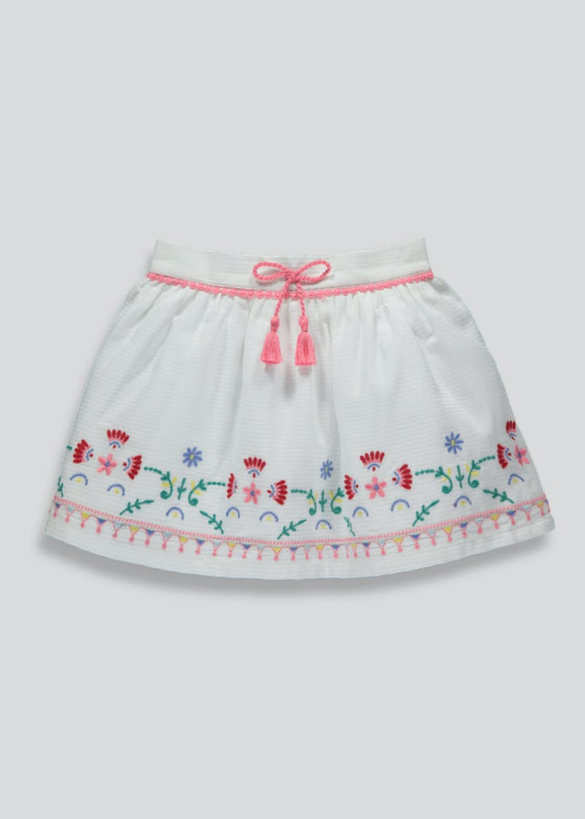 Girls Floral Embroidered Skirt (6mths-6yrs)