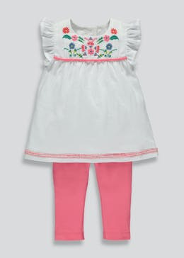 Girls Embroidered Tunic & Leggings Set (3mths-6yrs)