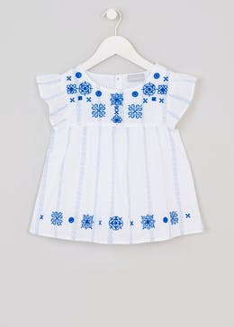 Girls Embroidered Blouse (4-13yrs)