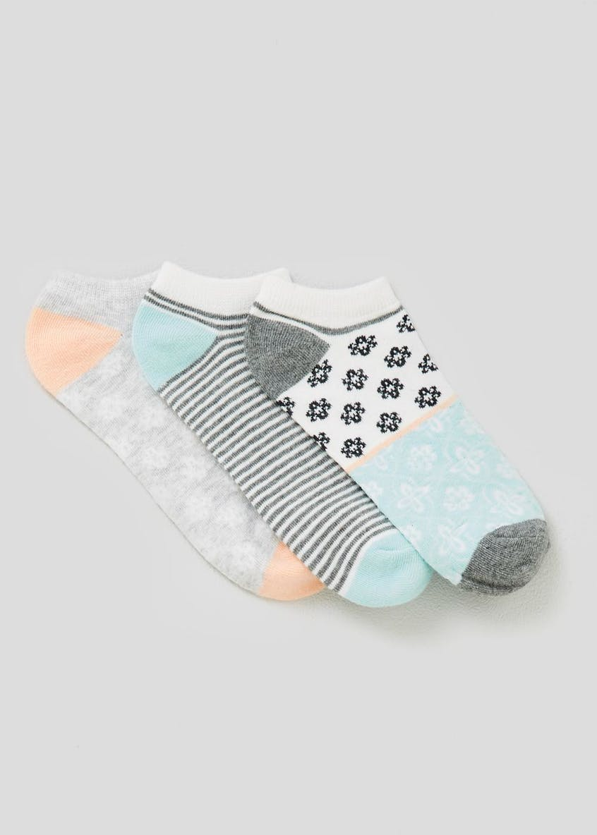 3 Pack Geo Trainer Socks