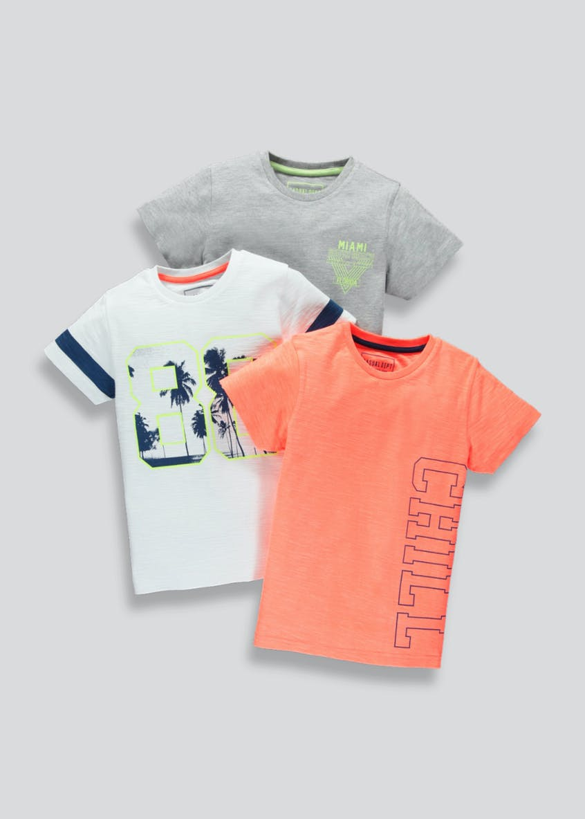 Boys 3 Pack T-Shirts (4-13yrs)