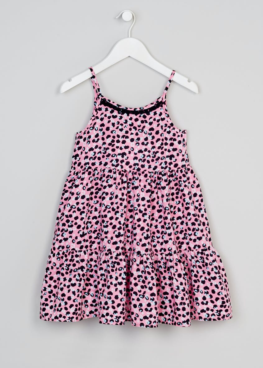 Girls Leopard Print Frill Dress (4-13yrs)