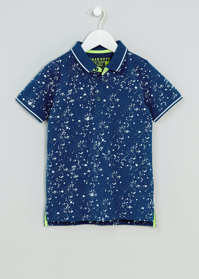 Boys Paint Splatter Polo Shirt (4-13yrs)